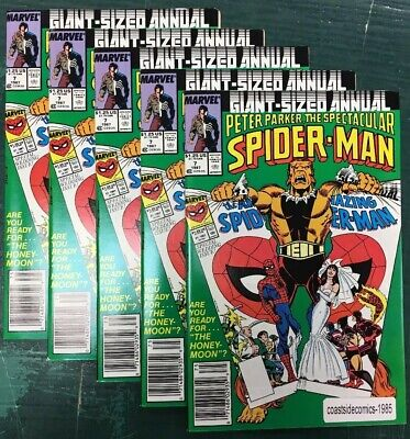 5 Lot Peter Parker The Spectacular Spider-Man Annual #7 Vf/Nm 1991