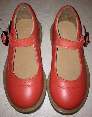 New, John Lewis, Rose Flower Buckle Shoes For Infant Girls C9, Coral, Pink