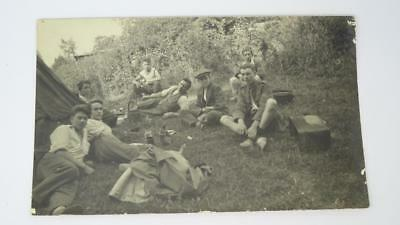 **Antique RP Unused WW1 Military Cadets Boys Camping Postcard**