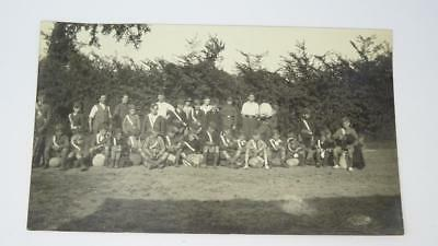 **Antique RP Unused Casual Military Cadets Group Camping Trip Postcard**