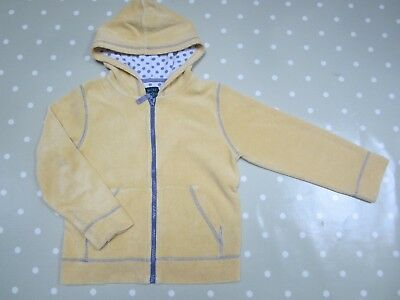 Mini Boden Girls Yellow Towelling Hoodie Age 7-8