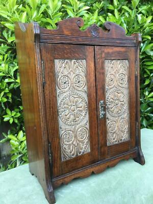 Ornate Antique Medicine Cabinet Apothecary Bathroom Wall Cabinet Arts and Crafts