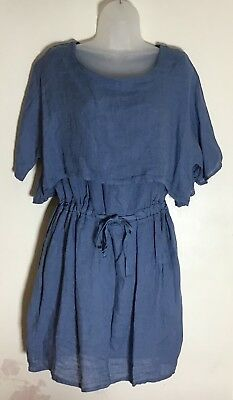 d5db0d604d New Linen Made In Italy  Obsession  Short Tunic Dress Size 10 12 14 16
