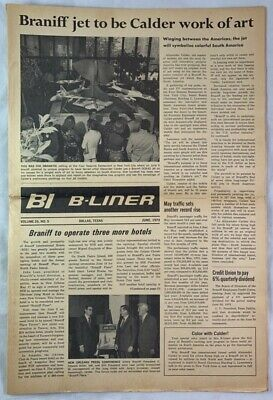 1973 Braniff Airlines Newspaper Alexander Calder Aircraft Models New York City