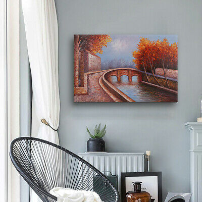"""32x48"""" Hand Painted Canvas Framed Oil Painting Modern Decor Wall Art Landscape"""