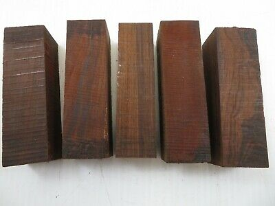 "(5) Lot Of 5,   Beautiful Cocobola  Wood Turning Blanks  1.10"" X 1.10"" X 4"""