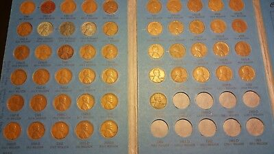 Complete Lincoln Wheat Penny Cent Collection Album 1941 - 1958 P D S Set Book #2