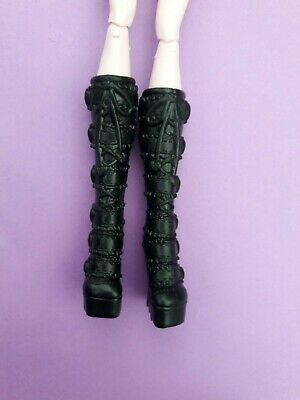 Monster High Doll Clothes Frights Camera Action Elissabat Black Boots Shoes
