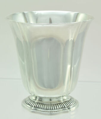 Antique French 950 Silver Lobed Oval Beaker Wine Cup 19th Century