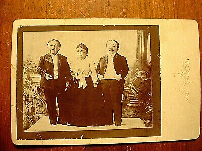 Mrs. Tom Thumb, Count Magri & Baron Magri Circus Cabinet Card