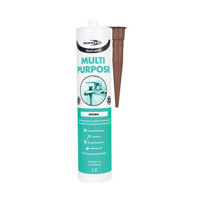 Bond It Brown Multimate Silicone Sealant Multi Purpose Sealing Kitchen Bathroom