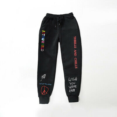 NEW Travis Scott Astroworld Pants Hip Hop Sweatpant Fashion Casual Trousers