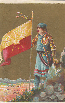 Etendard Roi Louis Xii 1507   Drapeau Flag Image Chromo Old Card