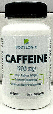 BODYLOGIX CAFFEINE PILLS-200mg TABLET-SAMPLES-BOTTLES-Free Ship