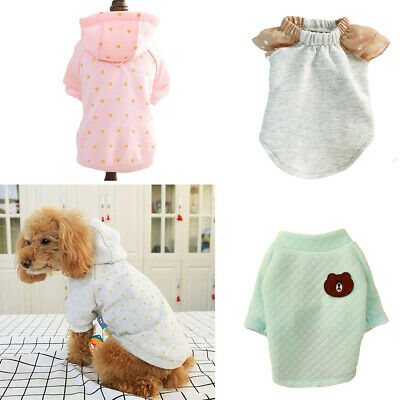 Pet Dog T-shirt Puppy Cat Dress Casual Soft Hoodie Coat Summer for Small Dogs