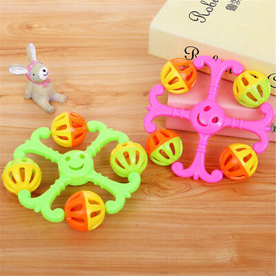 1PC Cute Infant Baby Bell Rattles Toy Newborn Baby Hand Play Toys Gift Pip CA