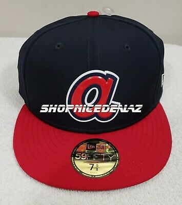 more photos 1a01c 8356d Men s Atlanta Braves New Era Navy Red 2019 Batting Practice Road Low Profile .