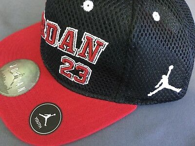 bd7f00f429e234 NWT YOUTH NIKE Jordan Jumpman 23 Snap Back Cap Black red 8 20 ...