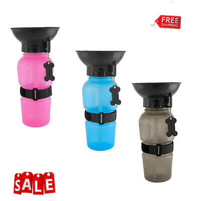 500ml Portable Dog Water Bottle Pet Dog Cat Outdoor Drinking Cup Travel Bottle