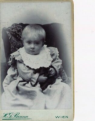 CDV Foto Photo Carte de visite Portrait Kleinkind Kind Baby Brunn Wien