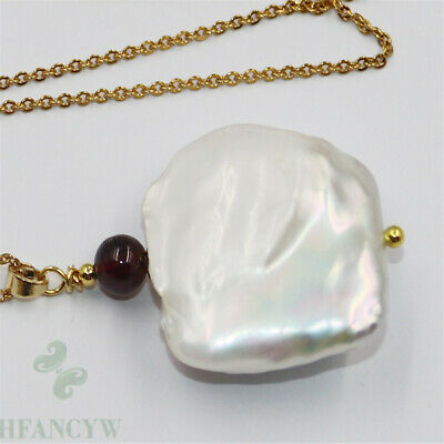 20-25mm Nature South Sea White Pearl pendant Noble Gorgeous AAA+ Flawless Retro