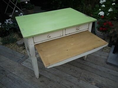 Old Vintage/Shabby Chic Pine & Painted Kitchen/Dining Table/Desk. We Deliver!