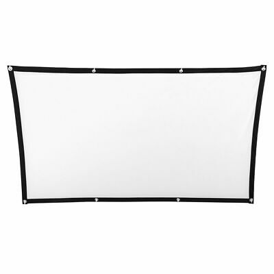 Projector Screen Movie Projection Cinema White Portable Durable Home 3D HD Mini
