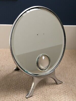 Antique Art Deco Wall Or Table Illuminated Mirror Chrome Harcourts Lamp Light