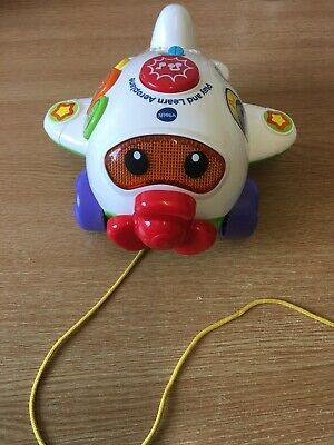 VTECH baby Play & Learn Aeroplane Toy Music Learning Airplane Pull A Long Game