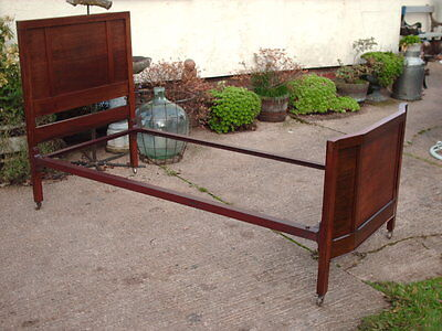 Antique Mahogany And Iron Single Bed 3'
