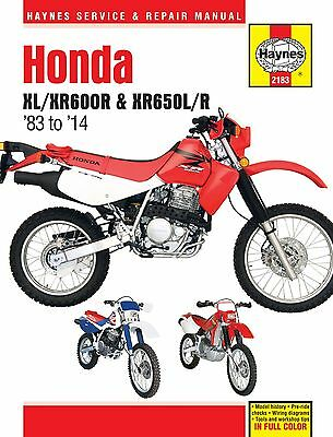 2183 Haynes Honda XL/XR600R & XR650L/R (1983 - 2014) Workshop Manual