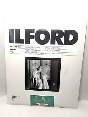 Ilford Photographic Paper 8x10 Sheets 20ct Open Pack & Kodak 8x10 25ct (wirslf)