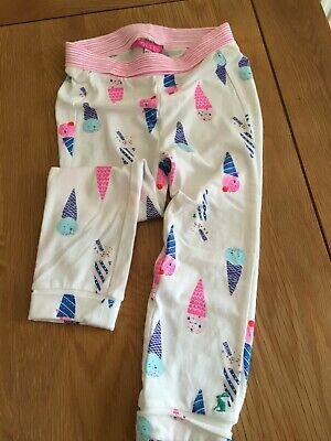 Joules Girls Baby Leggings 18-24 Months White Ice Cream Design, Cute I