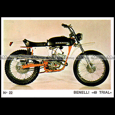 #MTP022 ★ BENELLI 50 TRIAL (49 cc) ★ 70's Carte Moto Motorcycle card