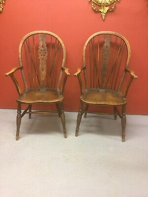Antique Elm Carver Chair Sn-p
