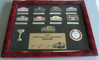 Tres Rare Vitrine 11 Pins Pin's Plaque Rallye World Rally Champion Subaru 1997