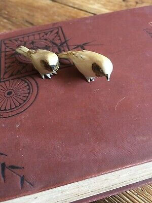 Antique Carved Bovine Birds circa 1900s