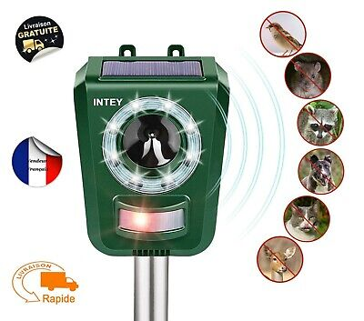 Ou Usb Repousse Jardin Repulsif Animaux Nuisibles Exterieur A Solaire Ultrasons ymwvNnO80