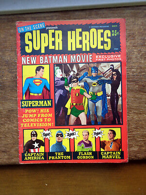 Super Heroes Comic Featuring New Batman Movie 1960s