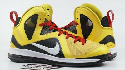 timeless design b192b 29a0c Nike Lebron 9 Ps Elite Used Size 13 Taxi Maize White Black Sport Red 516958  700