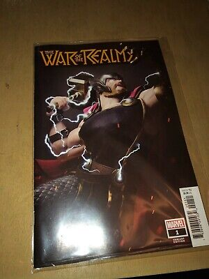 War of the Realms #1 Hugo Variant Thor 1:25, Bagged & Boarded