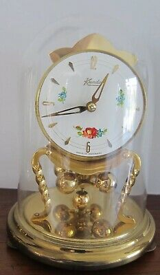 KUNDO 400 DAY ANNIVERSARY CLOCK WITH GLASS DOME - Good Working Order