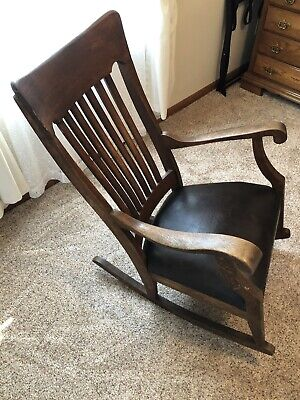 Vintage Solid Wood Mission Style Rocking Chair (Pickup only!!!)