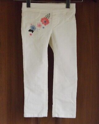 Gymboree, girls cream, embroidered corduroy trousers, size 3T USA