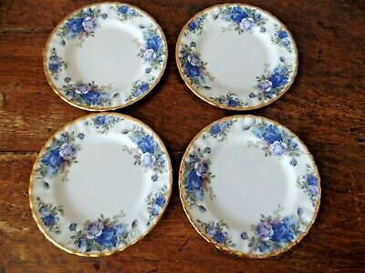 Four Royal Albert Moonlight Rose Tea Side Plates 6 1/4 Inch First Quality