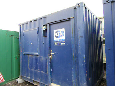 10ft x 8ft SITE OFFICE PORTABLE BUILDING GATE HOUSE CANTEEN 1650 + VAT OFFER