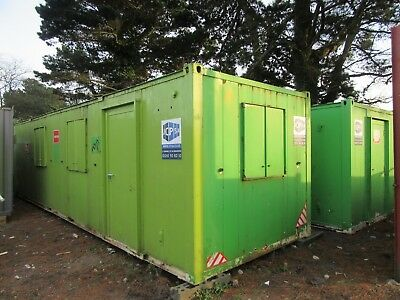 32ft x 18ft SITE CABIN SITE CANTEEN PORTABLE BUILDING LINKED UNIT £3000 + VAT