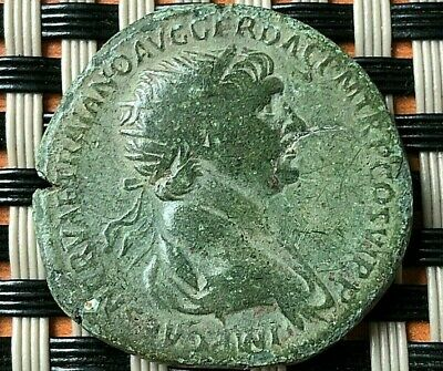Roman Empire - Bronze Coin Of Trajan 97-117 Ad Ae Dupondius Ancient Roman Coin