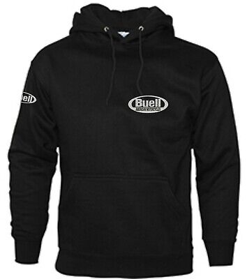 Buell Motorcycle Embroidered Hoodie zip Hood gift present