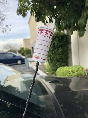 "3/"" Mini Car Antenna Topper IN-N-OUT BURGER Sealed Collectible NIP"